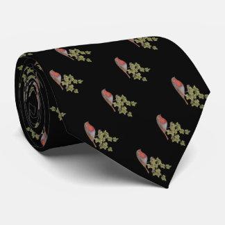 Weihnachtsrotkehlchen- und personalisierte krawatte