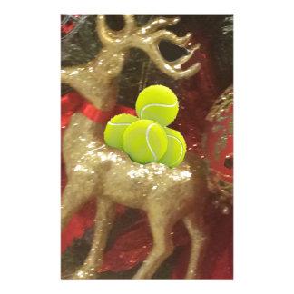 Weihnachtsrotwild mit Tennisbällen Briefpapier