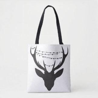 Weihnachtsrotwild-Taschen-Einkaufstasche Tasche