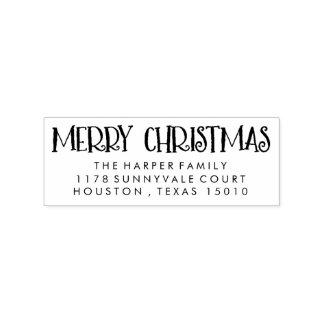 WeihnachtsRücksendeadresse-Briefmarke Gummistempel