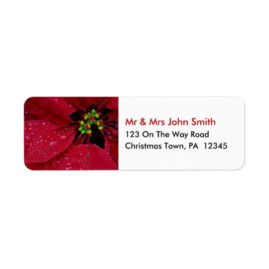 WeihnachtsRücksendeadressen-Aufkleber Rücksendeetiketten