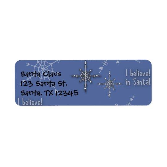 Weihnachtssammlung glauben Sankt Rücksende Aufkleber