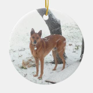 Weihnachtssammlung zum Gedenken an Champion Rundes Keramik Ornament