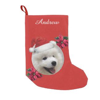 Weihnachtssamoyed-Hundepersonalisierter Strumpf Kleiner Weihnachtsstrumpf
