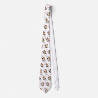 Weihnachtssankt-Enten-Muster auf klassischem Weiß Krawatte