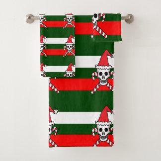 Weihnachtsschädel Badhandtuch Set