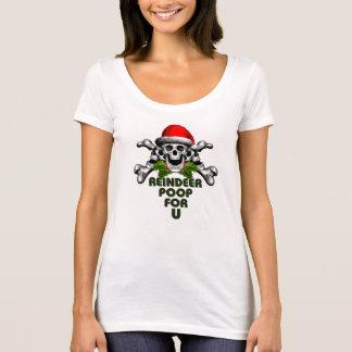 Weihnachtsschädel: Ren kacken T-Shirt