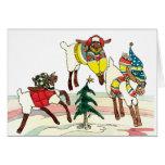 Weihnachtsschafe Karte