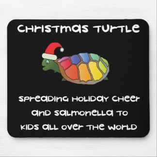 Weihnachtsschildkröte Mousepads
