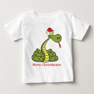 Weihnachtsschlange im Weihnachtsmannmütze-Shirt Baby T-shirt
