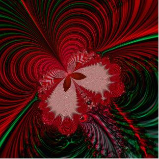 Weihnachtsschmetterlings-Fraktal Freistehende Fotoskulptur