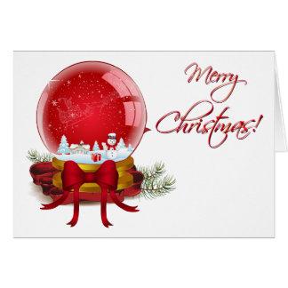 Weihnachtsschnee-Kugel Karte