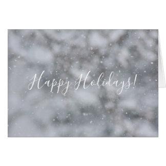 Weihnachtsschnee-Winter-Schneeflockensnowy-Gruß Karte
