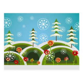 Weihnachtsschneefälle Postkarte