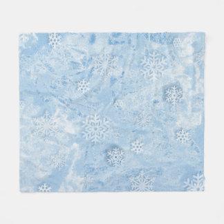 Weihnachtsschneeflocke-Decke Fleecedecke
