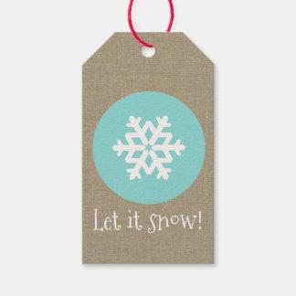 """Weihnachtsschneeflocke-Medaillon """"ließ es schneien Geschenkanhänger"""