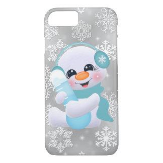 Weihnachtsschneeflocke-Schneemann iPhone 8/7 Hülle