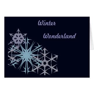 Weihnachtsschneeflocke-Winter-Märchenland Karte