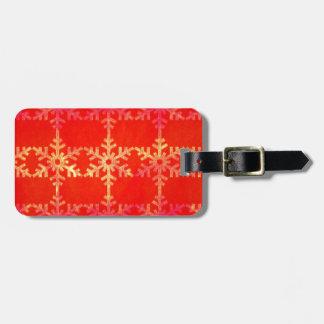 Weihnachtsschneeflockemuster Gepäckanhänger
