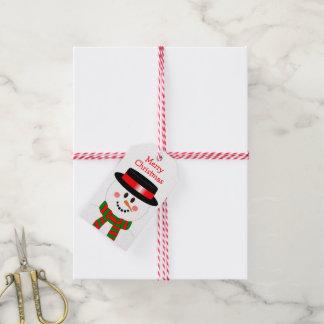 WeihnachtsSchneemann-Feiertags-Gewohnheit Geschenkanhänger