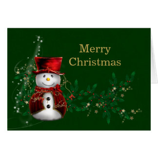 WeihnachtsSchneemann Grußkarte