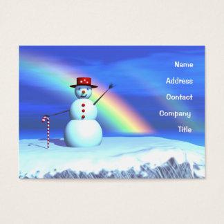 WeihnachtsSchneemann - mollig Visitenkarte