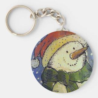WeihnachtsSchneemann Schlüsselanhänger