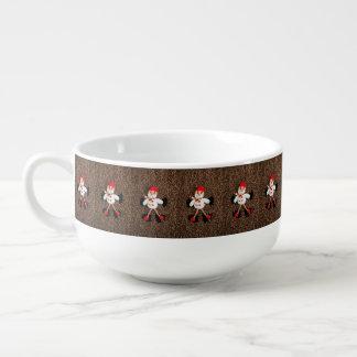 WeihnachtsSchneemanndekoration Große Suppentasse