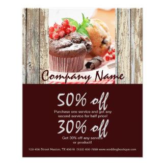 Weihnachtsschokoladenkuchen-Bäckereigeschäft 11,4 X 14,2 Cm Flyer