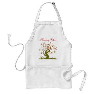 WeihnachtsSchürze-niedliche Vogel-Strudel-Baum Schürze