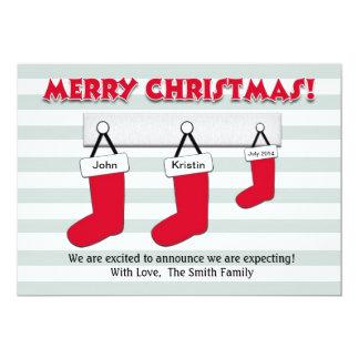 Weihnachtsschwangerschafts-Mitteilungs-Karte - 12,7 X 17,8 Cm Einladungskarte