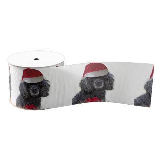 """Weihnachtsschwarzer Pudelhund 3"""" Grosgrainband Ripsband"""