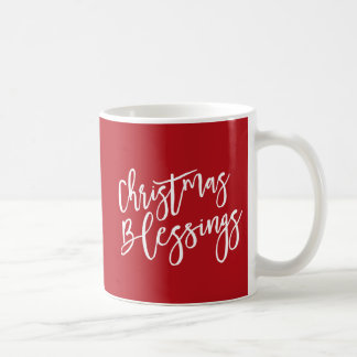 Weihnachtssegen-christliches religiöses, rot kaffeetasse