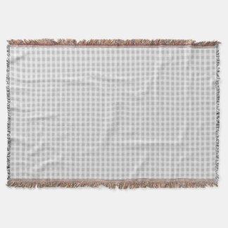 Weihnachtssilbernes Gingham-Karo-Muster Decke