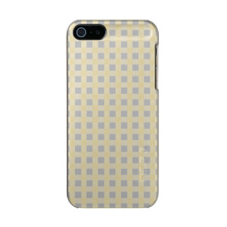 Weihnachtssilbernes Gingham-Karo-Muster Incipio Feather® Shine iPhone 5 Hülle