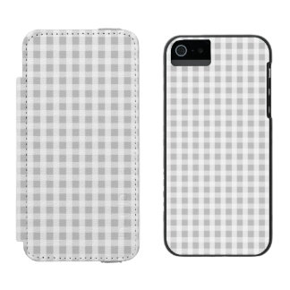 Weihnachtssilbernes Gingham-Karo-Muster Incipio Watson™ iPhone 5 Geldbörsen Hülle