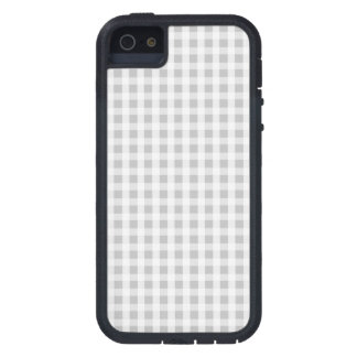 Weihnachtssilbernes Gingham-Karo-Muster iPhone 5 Hüllen