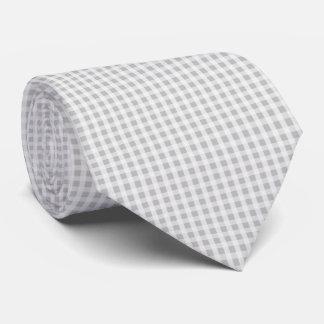Weihnachtssilbernes Gingham-Karo-Muster Krawatte