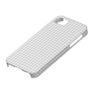 Weihnachtssilbernes Gingham-Karo-Muster Schutzhülle Fürs iPhone 5