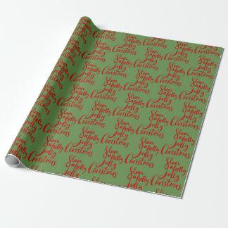 Weihnachtsslogan Geschenkpapier