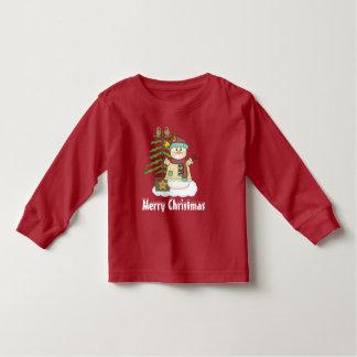Weihnachtssnowman- und Baumunisexkleinkind-T - Kleinkind T-shirt