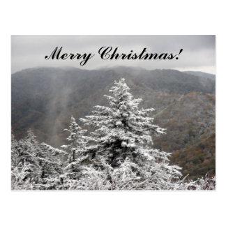 Weihnachtssnowy-Baum Postkarte