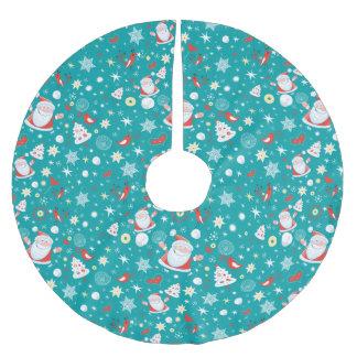 Weihnachtsspaß Polyester Weihnachtsbaumdecke