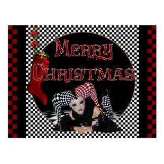 Weihnachtsspaßvogel-Entwurf 1 - Fantasie-Postkarte Postkarte