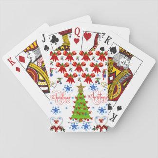 Weihnachtsspielkarte-Plattformweiß Spielkarten