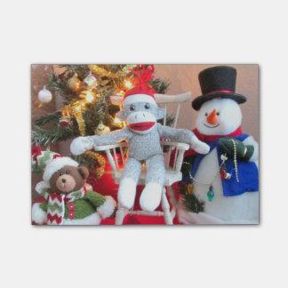 Weihnachtsspielwaren Post-it Klebezettel