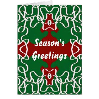 Weihnachtsspitze-Muster Grußkarte
