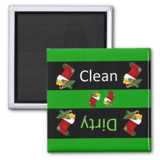 Weihnachtsspülmaschinenmagnet Quadratischer Magnet