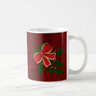 Weihnachtsstechpalme mit Bogen Kaffeetasse