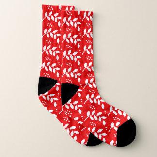 Weihnachtsstechpalmen-Beeren-Gewohnheits-Socken Socken
